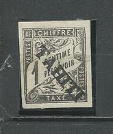 SYRIE Scott J1 Yvert Taxe 1 (1) *NG 400,00 $ 1893 Fausse Surcharge Probable - Tahiti (1882-1915)