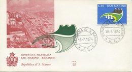 SAN MARINO - FDC ALA 1974 - GIORNATA DELLA FILATELIA - FDC
