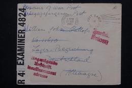ROYAUME UNI - Enveloppe De Bournemouth Pour Prisonnier En Allemagne Te Retour En 1941 - L 21713 - Postmark Collection