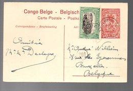 Congo - Entier Stibbe EP43 - VUE 20 - COQUILHATVILLE 1921 -  PL7 - Ganzsachen