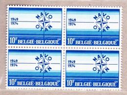 1974 Nr 1712** Zonder Scharnier,blokje Van 4..NAVO 25 Jaar. - Belgique