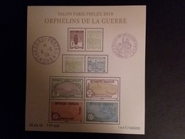 Bloc Orphelins De La Guerre Salon Paris Philex 2018 N°F5226 - Blocs & Feuillets
