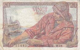 Billet 20 F Pêcheur Du 21-5-1942 FAY 13.02 Alph. W.24 - 1871-1952 Anciens Francs Circulés Au XXème