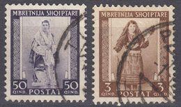 ALBANIA - 1939 - Lotto Di 2 Valori Usati: Yvert 259 E 265. - Albania