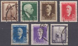 ALBANIA - 1939 - Lotto Di 7 Valori Usati: Yvert  259/265. - Albania