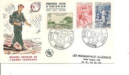 Algérie - Oeuvres Sociales De L'armée( FDC De 1957 à Voir) - Brieven En Documenten