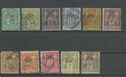 CHINE Scott 1-9, 11-12 Yvert 1-2, 4-10, 12, 14, 15 (11) O Et * 98,00 $ 1894-1900 - Chine (1894-1922)