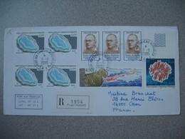 TAAF  Lettre Recommandé N° 1954 Port Aux Français Iles Kerguelen  N° 404 N° 405 N° 412 N° 414  Du 8/6/2005  Pour France - French Southern And Antarctic Territories (TAAF)