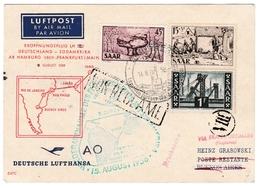 Erstflug 1956 Hamburg Frankfurt Paris Dakar Sao Paulo Rio Buenos Aires - Saar Brasil Brésil Argentina - Lufthansa - [7] West-Duitsland