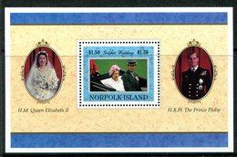 Norfolk Island 1997 Golden Wedding Of Queen Elizabeth II And Prince Philip MS MNH (SG MS651) - Norfolk Island