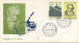 SAN MARINO - FDC  ALA 1974 - NICCOLO'  TOMMASEO - LETTERATURA - FDC