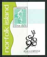 Norfolk Island 1998 Commonwealth Games, Kuala Lumpur MS MNH (SG MS682) - Norfolk Island