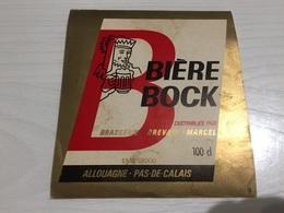 Ancienne Étiquette 1.2 BIÈRE BOCK DES HOUILLÈRES BRASSERIE BREVARD MARCEL ALLOUAGNE PAS DE CALAIS - Bière