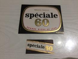 Ancienne Étiquette 1.2 BIÈRE SPÉCIALE 60 BRASSERIE BREVARD MARCEL ALLOUAGNE PAS DE CALAIS - Bière