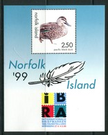 Norfolk Island 1999 IBRA Stamp Exhibition - Duck MS MNH (SG MS698) - Norfolk Island