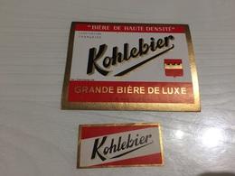 Ancienne Étiquette 1.2 BIÈRE LUXE KOHLEBIER BRASSERIE BREVARD MARCEL ALLOUAGNE PAS DE CALAIS - Bière