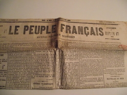 Le PEUPLE FRANCAIS, 25 Décembre 1869,  Journal Politique Quotidien - 1850 - 1899