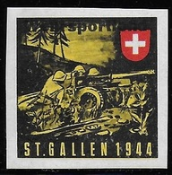 Suisse WWII Vignette Militaire Soldatenmarken ARMEEMEISTERSCHAFTEN / CHAMNPIONNATS D'ARMÉE VF-H - Vignettes
