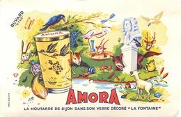 Buvard Ancien MOUTARDE AMORA DE DIJON - Mostaza