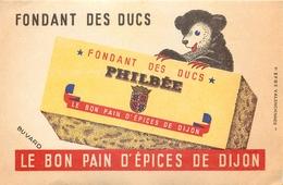 Buvard Ancien PAIN D EPICES FONDANT DES DUCS - PHILBEE - DIJON - Pain D'épices