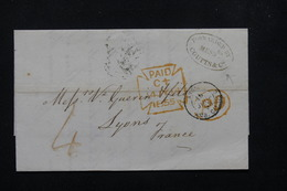 ROYAUME UNI - Lettre Pour La France En 1855 - L 21736 - Postmark Collection