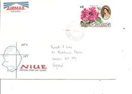 Niue - Hibiscus ( FDC De 1990 à Voir) - Niue