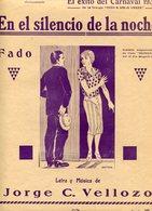 """PARTITURA EN ESPAÑOL """"EN EL SILENCIO DE LA NOCHE"""" FADO, LETRA Y MUSICA: JORGE C. VELLAZO, EDITORIAL PERROTTI -LILHU - Scores & Partitions"""