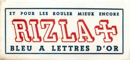 Buvard Ancien PAPIER A CIGARETTE RIZLA + - Tabac & Cigarettes