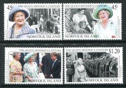 Norfolk Island 1999 Queen Elizabeth The Queen Mother's Century Set MNH (SG 712-715) - Norfolk Island