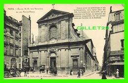 PARIS (75) - ÉGLISE N. D. DES VICTOIRES OU LES PETITS-PÈRES - ANIMÉE - A. NOEL, ÉDIT. - - Eglises