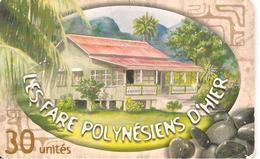 CARTE°-PUCE-POLYNESIE-30U-PF117-GEMA-08/01-FARE  POLY D HIER-1-UTILISE-TBE- - French Polynesia