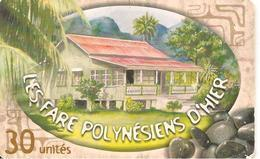 CARTE°-PUCE-POLYNESIE-30U-PF117-GEMA-08/01-FARE  POLY D HIER-1-UTILISE-TBE- - Polynésie Française