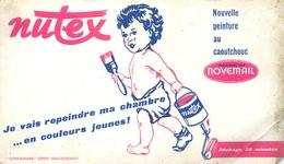 Buvard Ancien PEINTURE AU CAOUTCHOUC NUTEX PAR NOVEMAIL - Paints