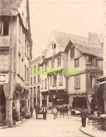 GRANDE PHOTO ALBUMINEE LARGE ANTIQUE VINTAGE ALBUMEN PRINT GROTE ALBUMINE DINAN RUE DE L'APPORT - Ancianas (antes De 1900)