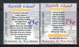 Norfolk Island 2000 ANZAC Day Set MNH (SG 729-730) - Norfolk Island