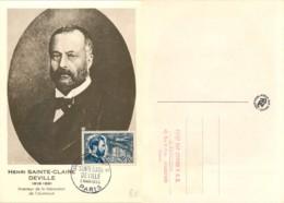 D - [513257]France  - Inventeur De La Fabrication De L'aluminium, Henri Saintte-Claire Deville - Maximum Cards