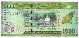 Sri Lanka P.new 1000 Rupees 2018  Unc - Sri Lanka
