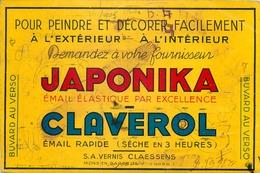 Buvard Ancien PEINTURE JAPONIKA - CLAVEROL - S.A VERNIS CLAESSENS - MONS EN BAROEUL - Paints