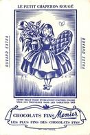 Buvard Ancien CHOCOLAT MEUNIER - FONDANT EXTRA FIN - LE PETIT CHAPERON ROUGE - Chocolat