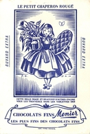 Buvard Ancien CHOCOLAT MEUNIER - FONDANT EXTRA FIN - LE PETIT CHAPERON ROUGE - Cocoa & Chocolat