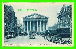 PARIS (75) - LA MADELEINE, VUE PRISE DE LA RUE ROYALE - ANIMÉE DE VIEILLE VOITURES - ÉDITIONS PAUL LUCIANI - - France