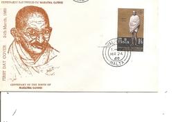 Gandhi ( FDC De Malte De 1969 à Voir) - Mahatma Gandhi