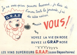 Buvard Ancien VIN ROSE LA GRAP - Liqueur & Bière