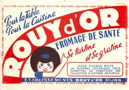 Buvard Ancien FROMAGE A TARTINER ROUY D OR - DIJON - Produits Laitiers