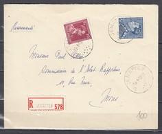 Aangetekende Brief Van Jemappes Naar Mons - 1936-51 Poortman