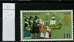Grande Bretagne - Great Britain - Großbritannien 1970 Y&T N°589 - Michel N°542 *** - 1/6s Mayflower - 1952-.... (Elizabeth II)