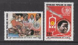 1988 Congo Brazzaville WHO Health Complete Set Of 2 MNH - Congo - Brazzaville