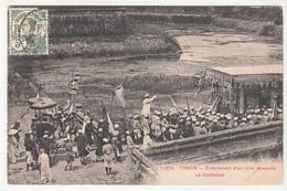 CPA- TONKIN - Enterrement D'un Riche Annamite Le Catafalque-1911- 2scans - Viêt-Nam