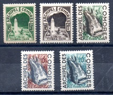 Comores (Archipel) Komoren Portomarken Y&T T 1** - T 5** - Ungebraucht