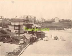 GRANDE PHOTO ALBUMINEE LARGE ANTIQUE VINTAGE ALBUMEN PRINT GROTE ALBUMINE DINARD LE CASINO - Oud (voor 1900)